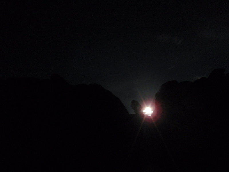 The moon over our campsite the night we arrived.
