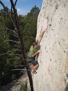 Rock Climbing Photo: Osita finishes with nice moderate pocket pulling u...