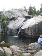 Rock Climbing Photo: The Popo Agie water slide offers a nice rest day d...