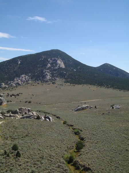 Rock Climbing Photo: View from the top of Elephant Rock.