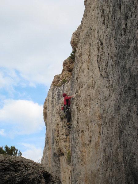 Rock Climbing Photo: Warming up on Ryobi Ranger.