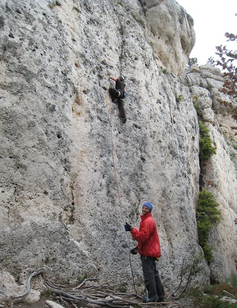 Even big-time celebrity rock jocks have to belay every now and then.