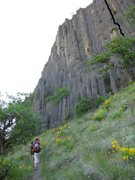 Rock Climbing Photo: 2nd pitch highlighted in black