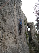 Rock Climbing Photo: Long moves make up the crux start of ...Lucille.