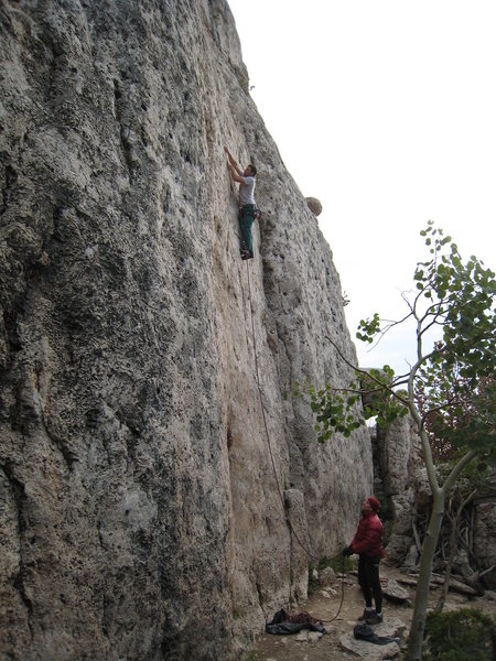 Rock Climbing Photo: John on Indian Country.