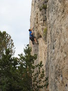 Rock Climbing Photo: Ryobi Wrangler is pumpy, though short, climbing th...
