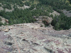 Rock Climbing Photo: Belay there and you can make the first piece in tw...