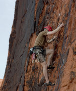 Rock Climbing Photo: Justin going past the 3rd bolt on Boxer Rebellion