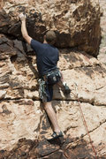 Rock Climbing Photo: greg wingate on family affairs - if there's a crux...
