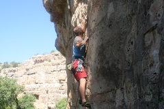 Rock Climbing Photo: The thin, cruxy bottom...