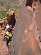 Rock Climbing Photo: The crux.  This picture doesn't come close to port...