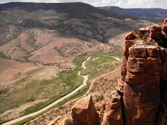 Rock Climbing Photo: Dolores River from the summit.