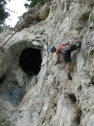 Rock Climbing Photo: Bone Yard Crag me on Bat Bone 5 11-