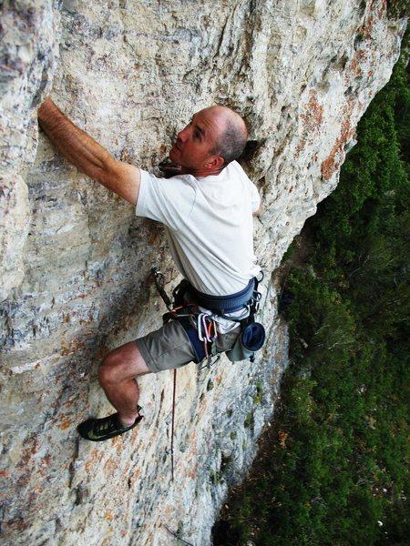 Rock Climbing Photo: Zak Gerhardt on Herbalicious Bone Yard Crag 5 10d