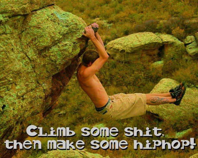 Rock Climbing Photo: me bouldering up @ phillamenz.