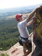 Rock Climbing Photo: Bryce getting ready to pull over the little roof w...