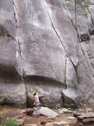 """Rock Climbing Photo: the line on the left is """"Edible Panties 5.7&q..."""