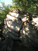 Rock Climbing Photo: The Satellite #2 Boulder in the Steel Bridge Area:...