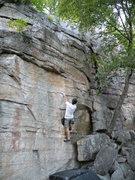 Rock Climbing Photo: John arrives at the business of Suzie B