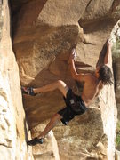 Rock Climbing Photo: The Microwave going into the crux