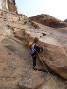 Rock Climbing Photo: west face variation- monkey face- smith rock