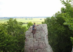 Rock Climbing Photo: The route being rappelled.