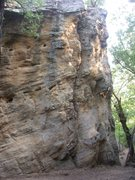 Rock Climbing Photo: View of Gray Streak (just left of center) and Easy...