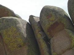 Rock Climbing Photo: Pete entering the crux section.