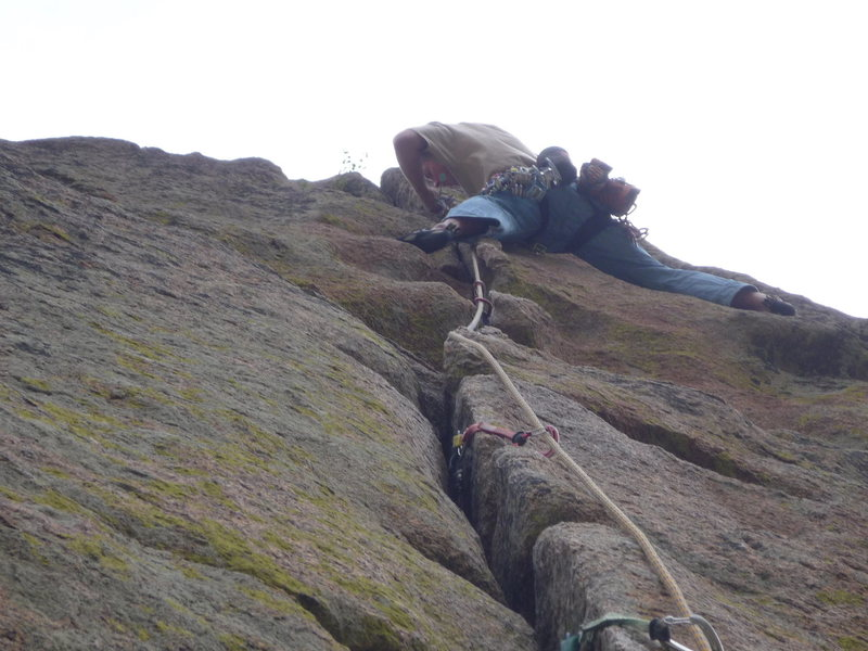 Rock Climbing Photo: Getting a good rest on the upper section.