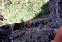 Rock Climbing Photo: Kevin Sargent belaying from top of pitch 1. Braill...