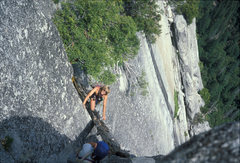 "Rock Climbing Photo: Back in the day...when the ""rotten log"" ..."