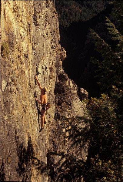 Rock Climbing Photo: Mike Kurilich on Sundance, The Hideaway
