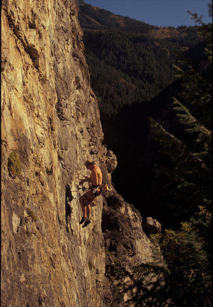 Rock Climbing Photo: Mike Kurilich denied the Sundance, The Hideaway