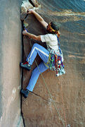 Rock Climbing Photo: Me leading Supercrack back in 1982