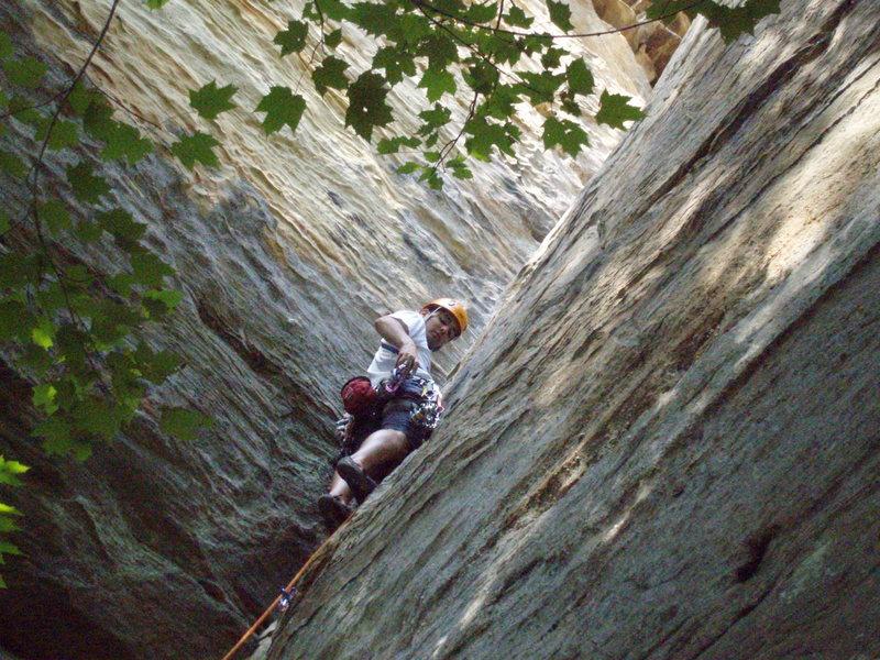 Rock Climbing Photo: Mike on Calypso II