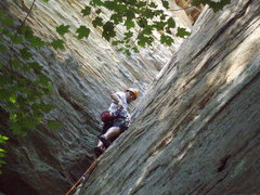 Rock Climbing Photo: Mike on Calypso II
