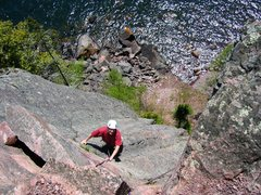 Rock Climbing Photo: Can't remember which route, spring 2004.  Amazing ...