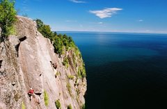 Rock Climbing Photo: Can't remember which route, scan of a print, sprin...
