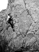 Rock Climbing Photo: Jamieson Stuart on Golden Spike