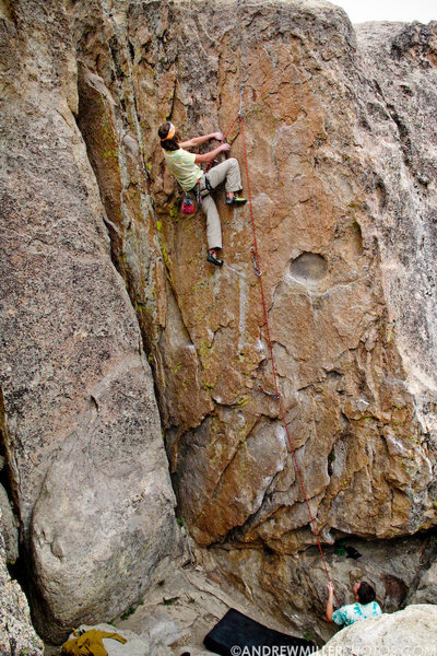 Rock Climbing Photo: Andrew Keizer flashing firepower