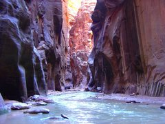 Rock Climbing Photo: Hiking in the narrows, September 2004.