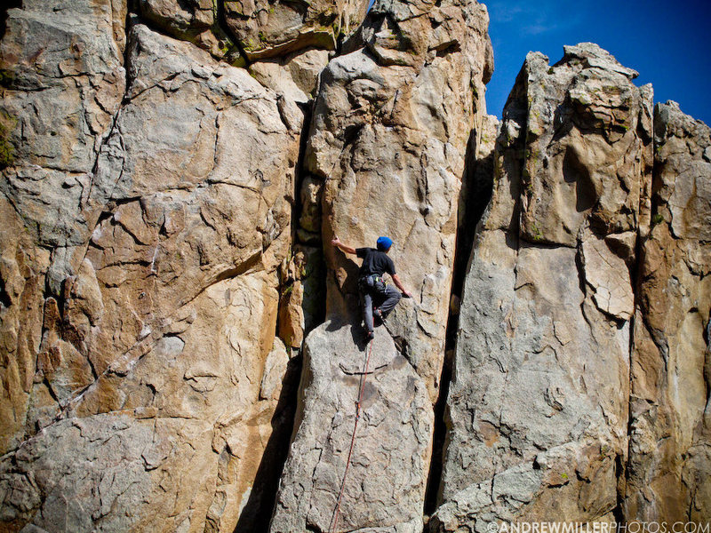 Rock Climbing Photo: AM cruising through one armed bandit