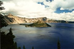 Rock Climbing Photo: Crater Lake, I think in 2001.  Amazing place.  Wiz...