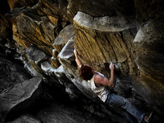 "Rock Climbing Photo: Luke Childers tossing for the sloper on ""CJMD..."