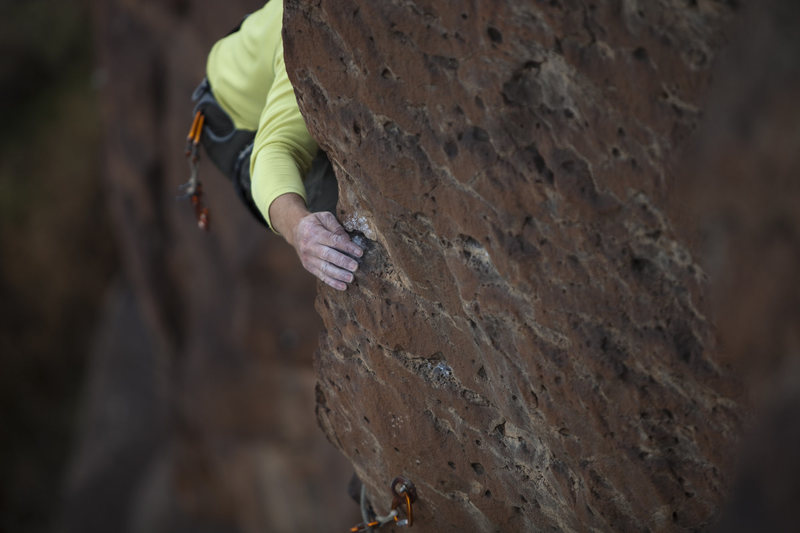 Rock Climbing Photo: Basalt pocket climbing at its best. andrewburr.com...