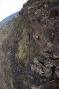 "Rock Climbing Photo: Final overhanging arete of ""Utopian Vistas&qu..."