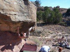 Rock Climbing Photo: Casey gettin high on mushroom