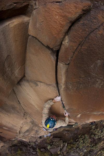 Rock Climbing Photo: Short but fun trad test piece.  Image courtesy of ...