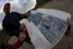 Rock Climbing Photo: Tim Naylor's original route guide/topo  Image cour...