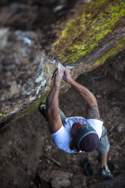 Rock Climbing Photo: This is James (Jimmy) Moore on Mean Green Leaner. ...